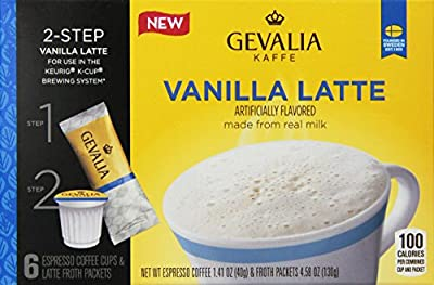 Gevalia Vanilla Latte K-Cup Packs and Froth Packets - 6 count (Pack of 6)