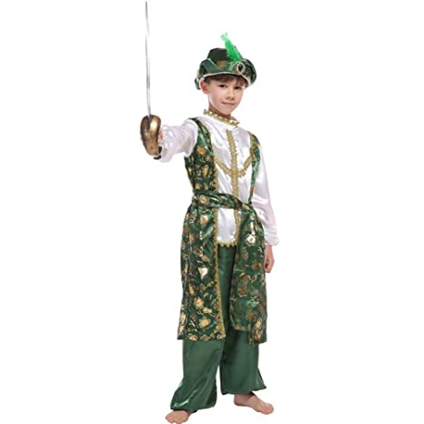 LOLANTA Niños Disfraz de príncipe árabe de Halloween para ...