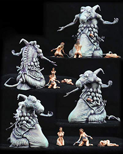 FidgetGear 54mm Resin Kingdom Death 1 Monster and 3 Nude Wet Nurses Set Unassembled WH287