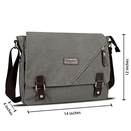 2764092298 ibagbar Canvas Messenger Bag Shoulder Bag Laptop Bag Computer Bag Satchel  Bag Bookbag School Bag Working