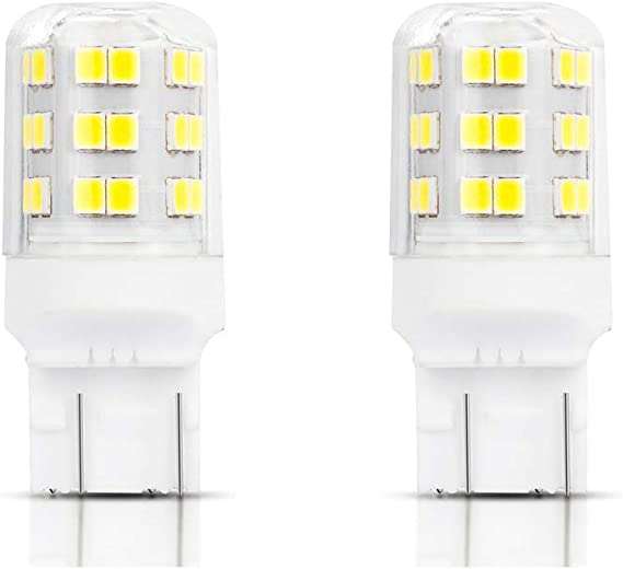 GTP 7443 7440 T20 7441 7444 992 LED Bulbs Backup Reverse DRL Daytime Running Parking Light Bulb Replacement 2835 SMD 1260 Lumens 6000K Xenon White