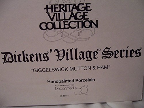 "Heritage Village Collection; Dickens Village Series: ""Giggleswick Mutton and Ham"" #58220 by Department 56"