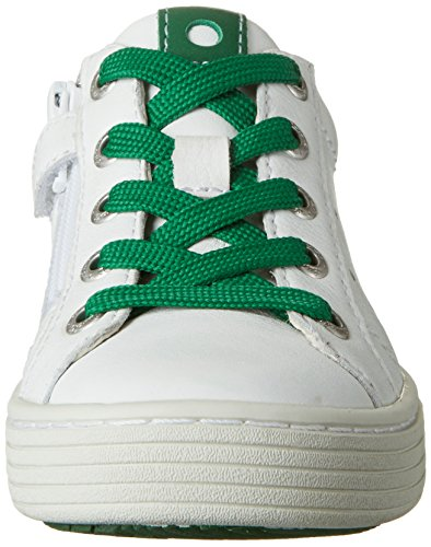 Lurchi Henry, Zapatillas Para Niños Weiß (White Green)
