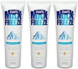 zims freeze - Zim's Max Freeze Muscle & Joint Pain Relief Gel - Greaseless, Vanishing Scent Formula - Net Wt. 4 OZ (113.4 g) Per Tube - Pack of 3