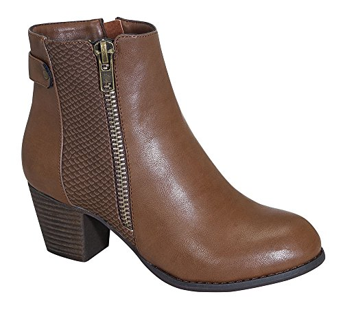 Kiosk-26 Women's Zipper Dressy Ankle Rider Bootie with Python Details