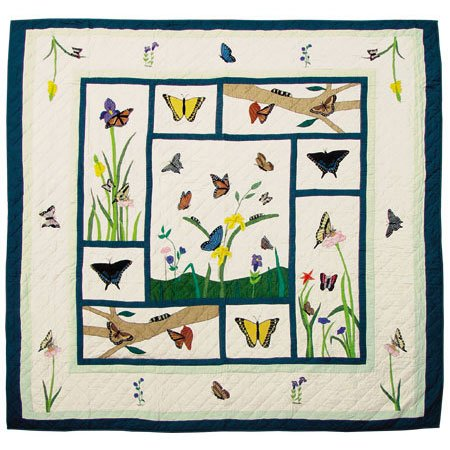 (Butterfly Kisses Quilt Twin 65 x 85 In. )