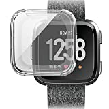 Ikevan 1 x Soft TPU Protection Silicone Full Case Cover for Fitbit Versa (Clear)