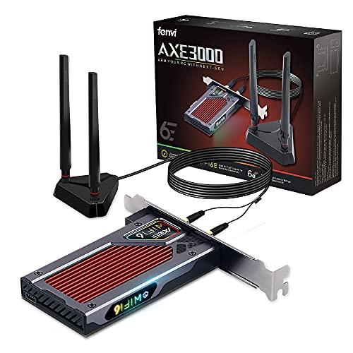 Placa Wifi Gamer RGB Ax210 Ax210ngw Wifi 6e Pci-e Bt5.2