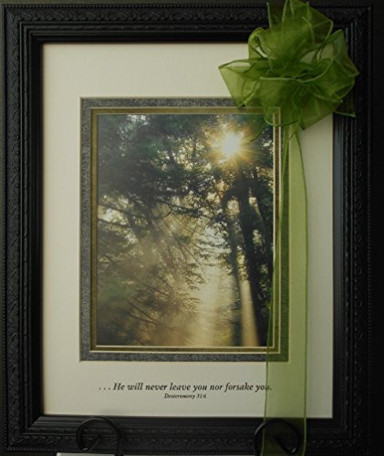 Memorial Gift to Send for Sympathy to Express Condolences to the Grieving Framed Art Nature Scene with Comforting Scripture to be Personalized as Lasting Keepsake of a Loved One