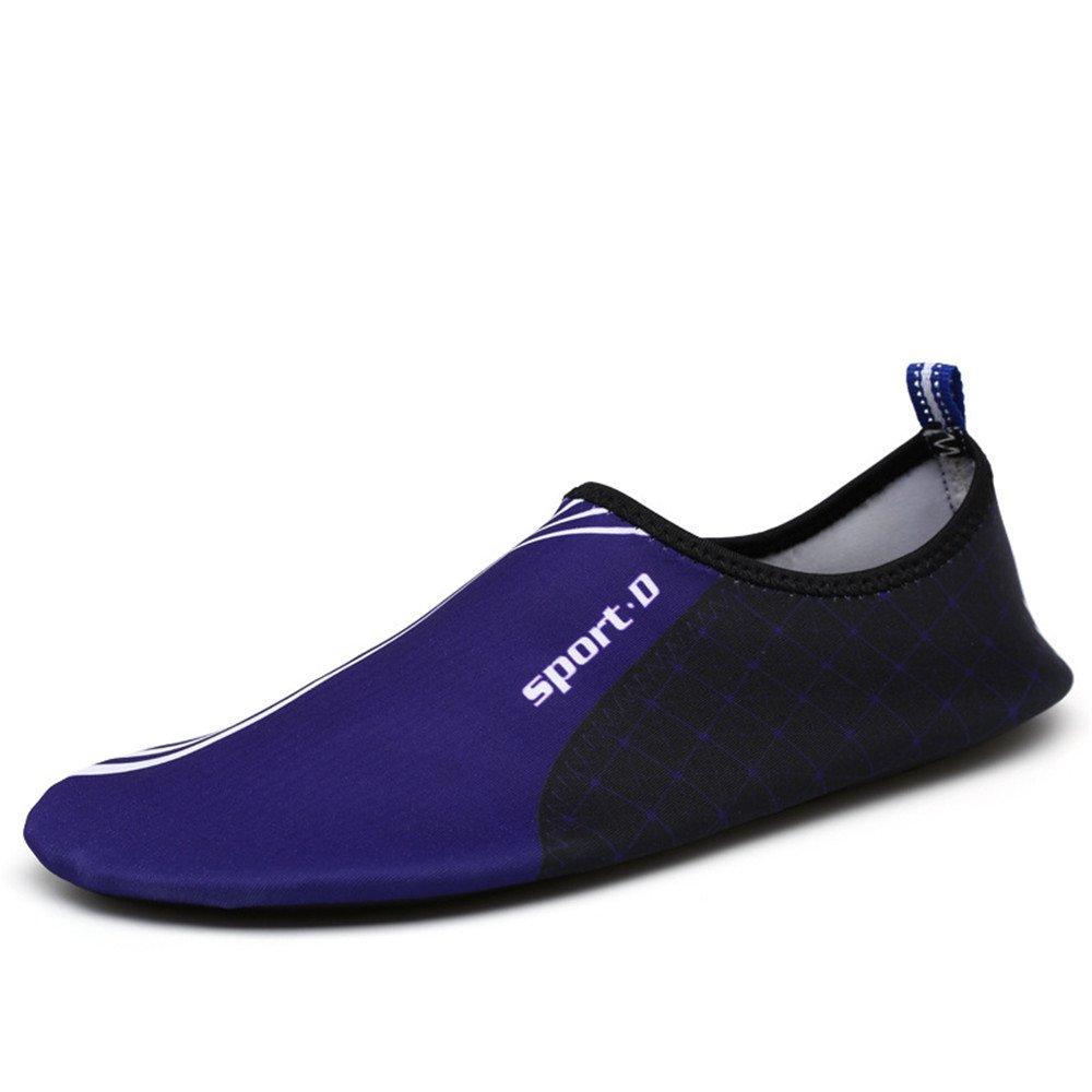 Humasol Men Women's Lightweight Quick-Dry Aqua Shoes Multifunctional Water Socks for Swim Beach Pool B073WT3QCT US Women:12-13.5/ Men:10.5-12 (EU 43-44)|SPD-Purple
