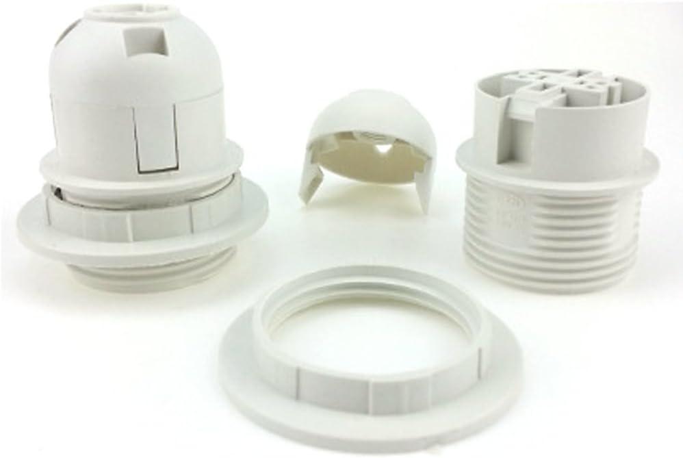 Anneau pour abat-jour free size blanc Douille pour ampoule LED Douille pour ampoule E27 douille /à vis vintage Montage de douille