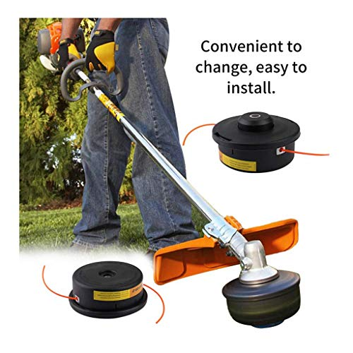 Iusun Lawn Mower Weed Trimmer Head Frosted Plastic Grass Top Rope Strimmer Accessory Sharpener Power Lawnmower for Garden Grass Never Damage Trees (Black)