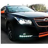 2PCS LED DRL Driving Fog Lamp Day Time Light Running Day Turn Signal Cover Kit Fit For Chevrolet Cruze 2009+