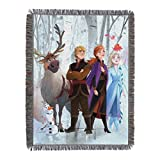 Disney Frozen 2 Peering Out Woven Tapestry Throw