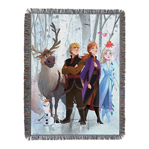 "Disney Frozen 2 Peering Out Woven Tapestry Throw Blanket, 48"" x 60"""