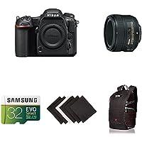 Nikon D500 DX-Format Digital SLR Portrait and Prime Photography Lens Kit w/ AmazonBasics Accessories