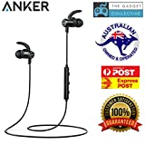 Anker SoundBuds Slim Wireless Headphones, Bluetooth 4.1 Lightweight Stereo IPX5 Earbuds with Magnetic Connection, Nano Coating Sweatproof Sports Headset with Metallic Housing & Built-in Mic(Black)