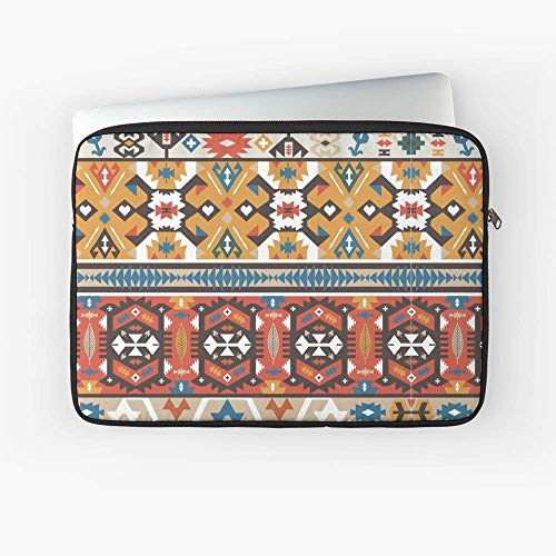 White Blades Navajo - Indian Ornate Pattern Tribal Navajo Seamless Pattern. Laptop Sleeve - 13 Inch and 15 Inch - Best Gift for Family Friends