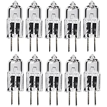 Classic Light Bulb - JC 50 Watt Halogen GY6.35 Bi Pin Lamp (12V) Low Voltage (10 Pack) (50 Watt)
