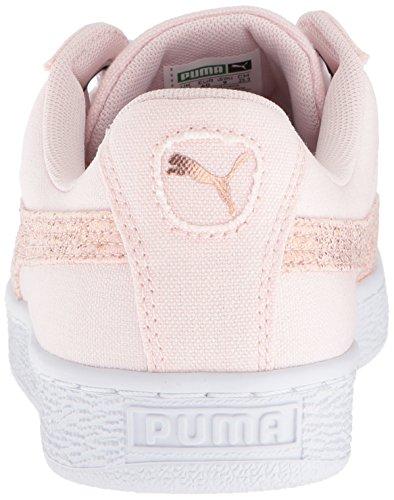 Puma puma Tela White Pumapuma Cuori Donna Con Gold Pearl 366495 Scarpette In rose Basket Da RARwrqP
