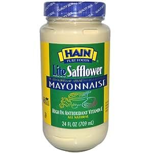 Hain Pure Foods Lite Safflower Mayonnaise, 24 Ounce