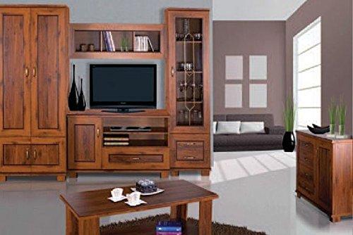 Wohnzimmer Komplett - Set A Dahra, 6-teilig, Farbe  Eiche Braun