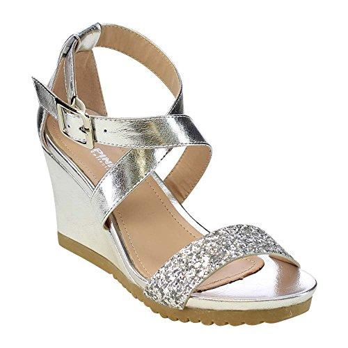 03 Silver Women Sandal - 1