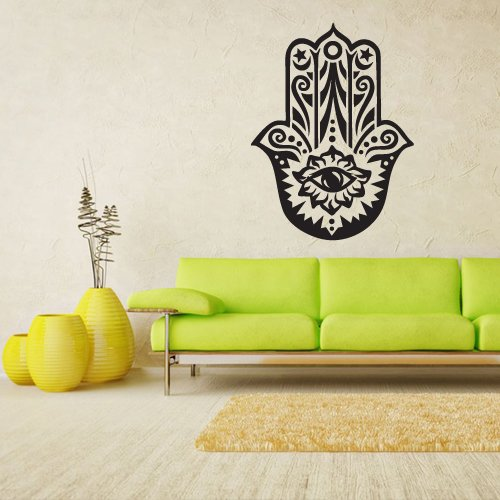 Amazoncom Wall Vinyl Sticker Decals Decor Art Hamsa Hand India - Wall decals india