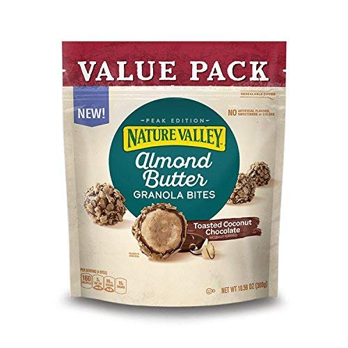 Almond Toasted Butter - Almond Butter Toasted Coconut Chocolate Granola Bites, 10.59 oz (Pack of 2)