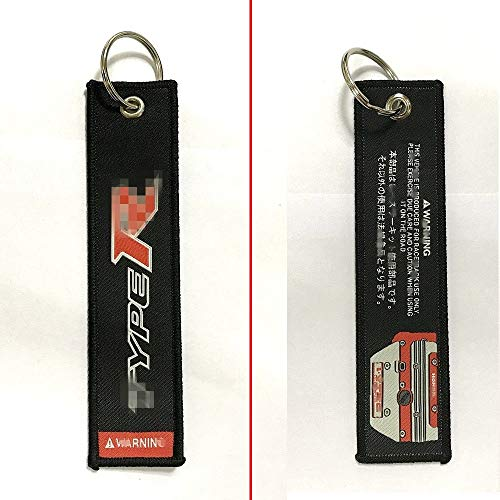 Car Keytag Keychain Double Side Prints Difference Logo For Aftermarket Universal Car Motorcycle Accessories For Example Performance Type R honda i Vtec dohc Racing Drift Rally Racer Driver Enthusiasts