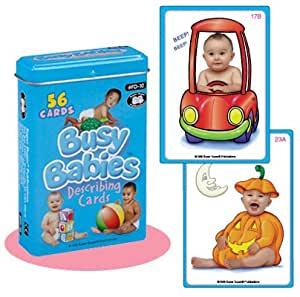 Busy Babies Describing Fun Deck Cards - Super Duper Educational Learning Toy for Kids