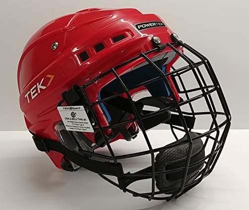 PowerTek v3.0 TEK Ice Hockey Player Helmet with Cage