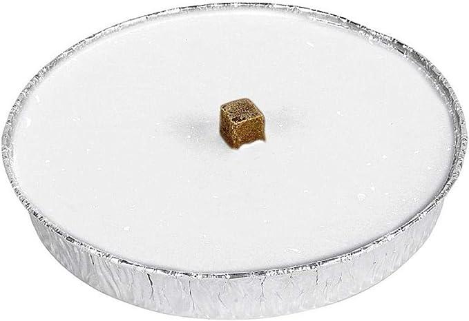 Ø 160 mm Outdoorkerzen mit Fackeldocht 10 Jaspers Flammschalen weiß