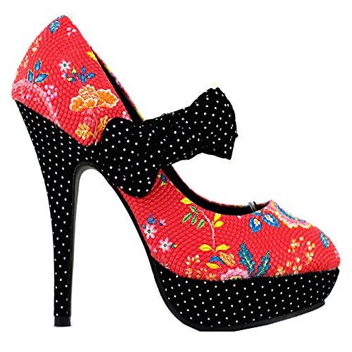 Show Story - Zapatos de tacón  mujer Rojo - rojo