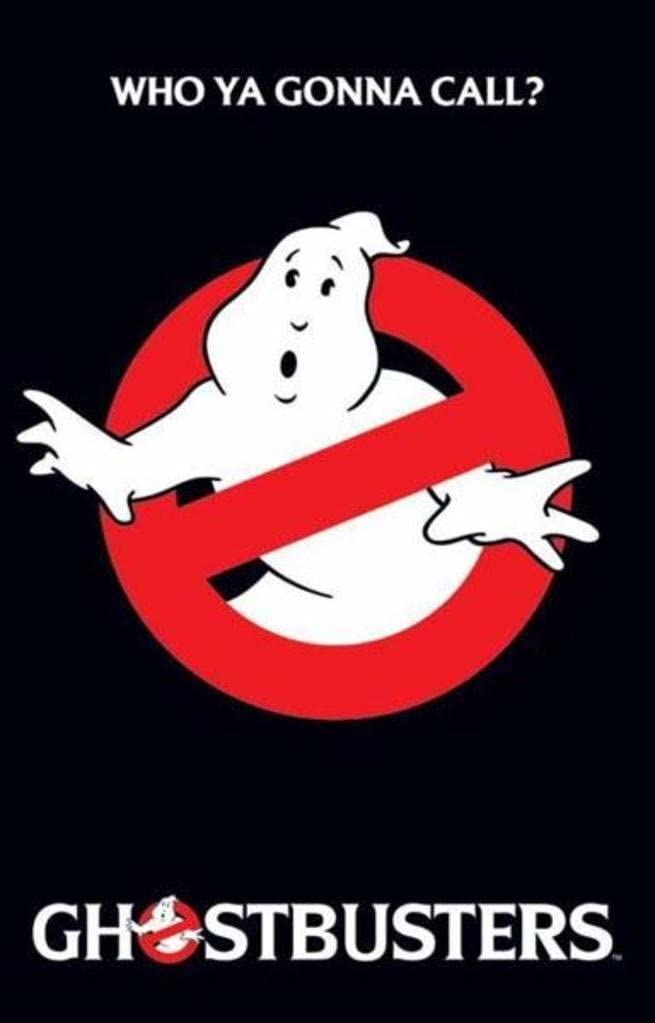 Laminated Ghostbusters Who Ya Gonna Call Movie Sign Poster 12x18 inch