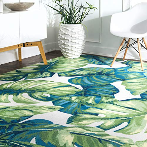 nuLOOM Lisa Floral Indoor/Outdoor Rug, 5' x 8', Multi (Area 5x8 Rugs Tropical)
