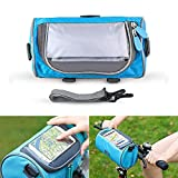 Womdee Waterproof Bike Phone Mount Bag, Bicycle Frame Bag with Clear 6.0in Touch Screen Cell Phone Window|Mountain Bike Riding Accessories- Green
