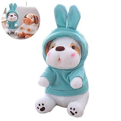 1 unid Cute Plush Puppy Toys Novedad Christmas Plush Doll Muñeca de Peluche con música Encantador for niños Niños Niñas Adolescentes (Azul, 11.8 Pulgadas): Juguetes y juegos