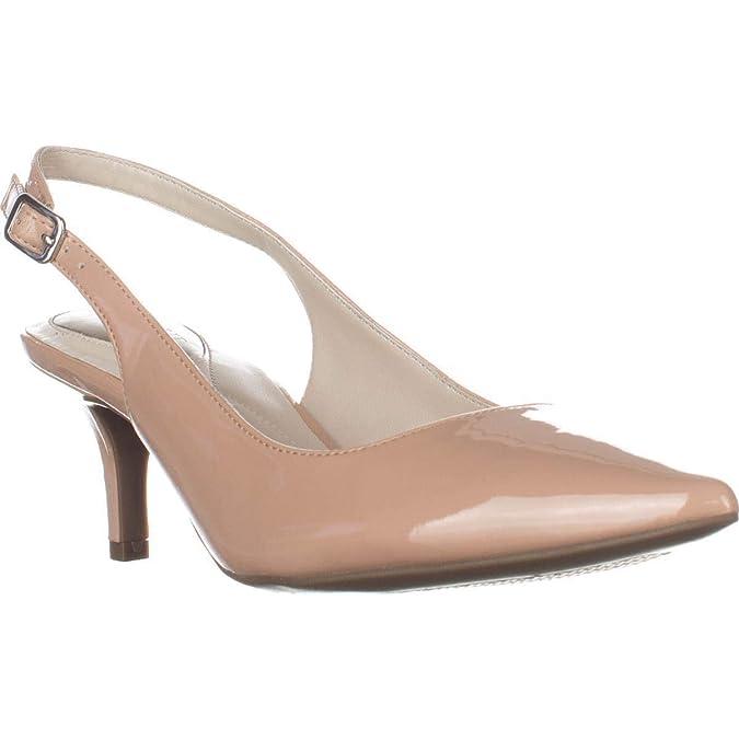 Alfani Womens Babbsy Leather Pointed Toe SlingBack Classic Pumps