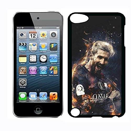 (Barcelona Messi Case for iPod Touch 5th iPod Touch 6th,PC Material Hard Case Never Fade)