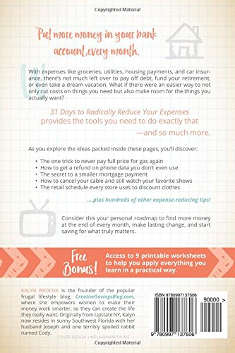 31 Days to Radically Reduce Your Expenses: Less Stress. More ...