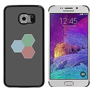 A-type Arte & diseño plástico duro Fundas Cover Cubre Hard Case Cover para Samsung Galaxy S6 EDGE (Rojo Verde Azul)