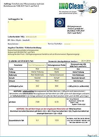 Análisis de agua caliente según VDI.2035 partes 1 y 2 ...
