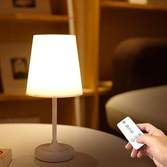 Télécommande Ousenr Table Blanc Lampe De Intelligente Nuit Led ymv0wNO8n