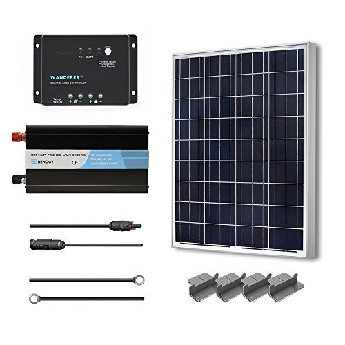 RENOGY 100 Watt 12 Volt Polycrystalline Solar Battery Ready Kit with Wanderer Charge Controller