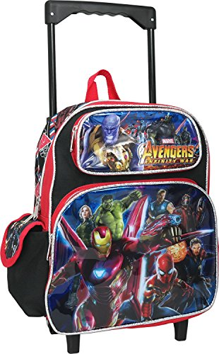 Avengers Infinity War 12 inches Toddler Small Rolling Backpack