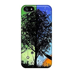 USMONON Phone cases High-quality Durable Protection Case For Iphone Iphone 5 5s(abstract Tree)