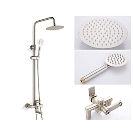 Duradero Set de ducha Grifo de agua fría y caliente Rociador ...