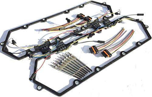 Amazon 1994 1997 Ford Powerstroke 73l Diesel Glow Plugs Kit Gaskets Injectors Harness Automotive