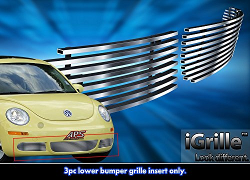 - Stainless Steel eGrille Billet Grille Grill For 06-11 2011 VW Volkswagen Beetle Bumper